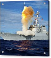 Guided Missile Destroyer Uss Hopper Acrylic Print