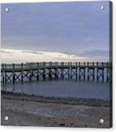 Gulf Beach Pier Acrylic Print