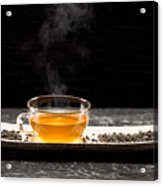 Gunpowder Green Tea In Glass Teapot Acrylic Print