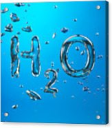 H2o Formula Made By Oxygen Bubbles In Water Acrylic Print