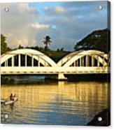Haleiwa Bridge Acrylic Print by Paul Topp