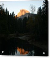 Half Dome Sunset Acrylic Print