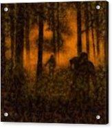 Halloween Horror Zombie Rampage Acrylic Print
