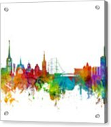 Halmstad Sweden Skyline Acrylic Print