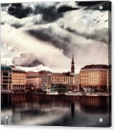 Hamburg At Dusk Acrylic Print