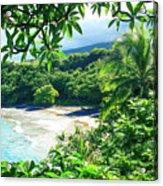 Hamoa Beach Hana Maui Hawaii Acrylic Print