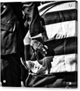 Hand In Flag Acrylic Print