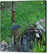 Hand Pump In The Spring Acrylic Print