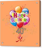 Happy 40th Birthday Acrylic Print