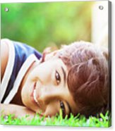 Happy Boy Outdoors Acrylic Print