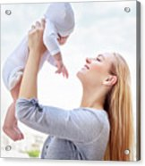 Happy Mother With Baby Acrylic Print