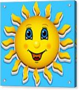 Happy Smiling Sun Acrylic Print