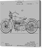 Harley Davidson Motorcycle Patent 1925 Acrylic Print