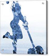 Harley Quinn-blue Acrylic Print