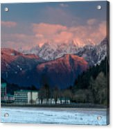 Harrison Hot Springs And Mount Cheam Range Acrylic Print