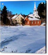 Harrisville Pond II Acrylic Print