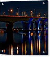 Hathaway Bridge At Night Acrylic Print