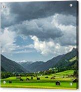Hay Barns In Oberinntal, Pettneu Am Arlberg Acrylic Print