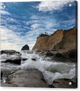 Haystack Rock At Cape Kiwanda Acrylic Print