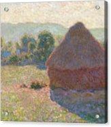 Haystacks, Midday Acrylic Print