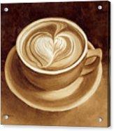 Heart Latte II Acrylic Print