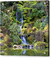 Heavenly Falls In Spring Acrylic Print