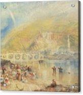 Heidelberg With A Rainbow Acrylic Print