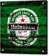 Heineken Beer Wood Sign 1e Acrylic Print