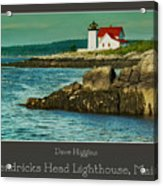 Hendricks Head Lighthouse, Maine Acrylic Print