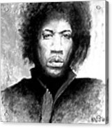Hendrix Portrait Acrylic Print