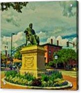 Henry Wadsworth Longfellow Monument - Portland, Maine Acrylic Print