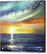 Here It Goes - Square Sunset Painting Acrylic Print
