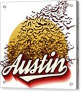 Congress Avenue Bridge Bats Take Flight In Austin Texas Acrylic Print