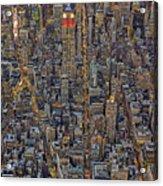 High Over Manhattan Acrylic Print