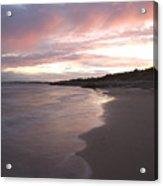 Highcliffe Beach At Sunset Acrylic Print