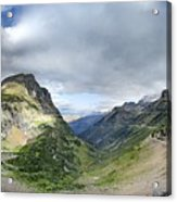 Highline Trail Overlooking Going To The Sun Road - Glacier National Park Acrylic Print