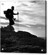 Hiker Silhouette Acrylic Print