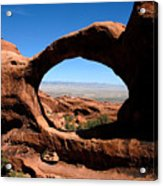 Hiking Through Arches Acrylic Print