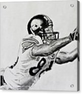 Hines Ward Diving Catch  Acrylic Print by Bryant Luchs