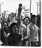 Hispanic Anti-viet Nam War Rally Tucson Arizona 1971 Acrylic Print