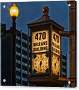 Historic Clock - Beaumont Texas Acrylic Print