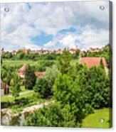 Historic Town Of Rothenburg Ob Der Tauber  Acrylic Print