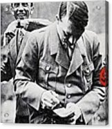 Hitler And Goebbels As The German Chancellor Signs An Autograph Acrylic Print