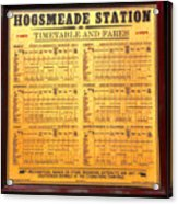 Hogsmeade Station Timetable Acrylic Print