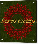 Holiday Card Acrylic Print