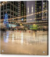 Holiday Scenes In Uptown Charlotte North Carolina Acrylic Print