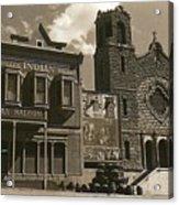 Holy Angel's Catholic Church Rectory  Belles Indian Saloon   The Great White Hope Set Globe Az 1969 Acrylic Print