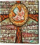 Holy Spirit Prayer By St. Augustine Acrylic Print
