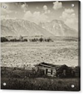 Homestead In The Grand Tetons Acrylic Print
