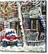 Achetez Les Meilleurs Peintures De Scenes De Montreal En Hiver Winter Scene Paintings Acrylic Print